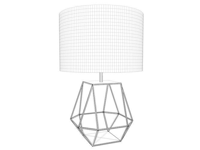 ... Geometric Copper Rex Table Lamp 3d Model Obj 3ds C4d 2 ...