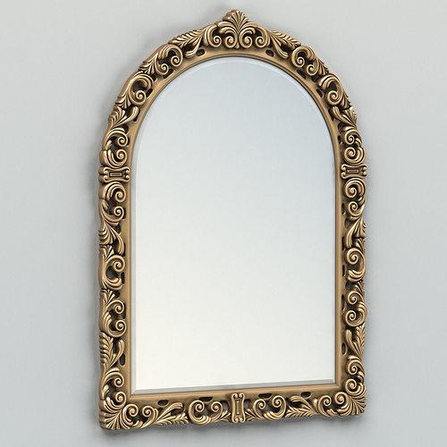 rectangle mirror frame 009 3d model max obj fbx stl 1