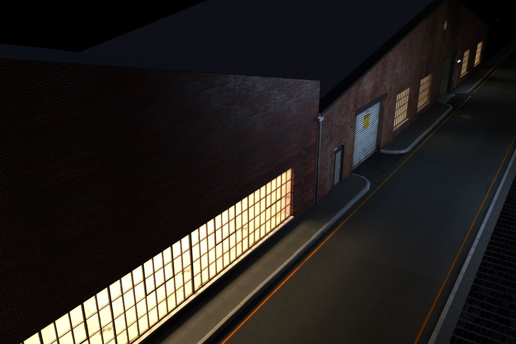 Night Street Scene V-ray