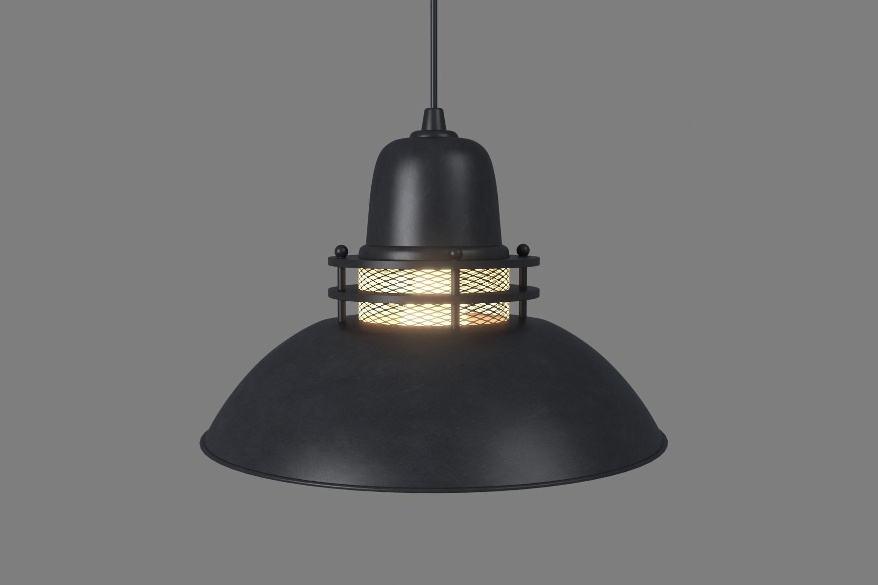 Anthracite Pendant Lamp With Mesh