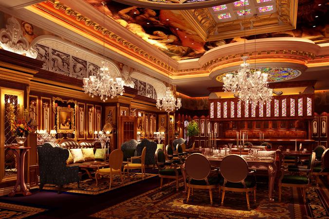 3d luxury restaurant cgtrader for Restaurant 3d max