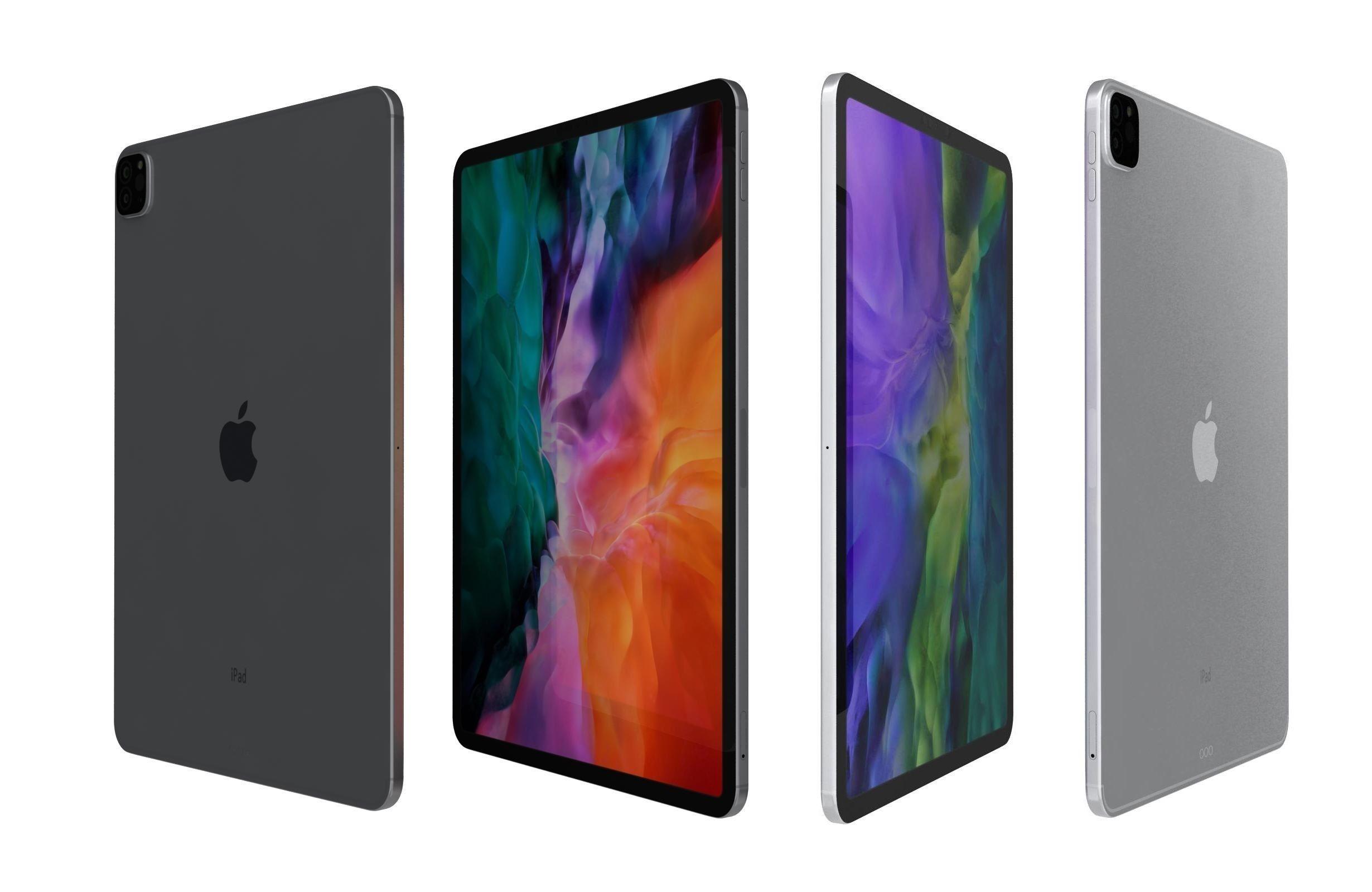 3D model Apple iPad Pro 12 9 2020 WiFi Cellular All Colors
