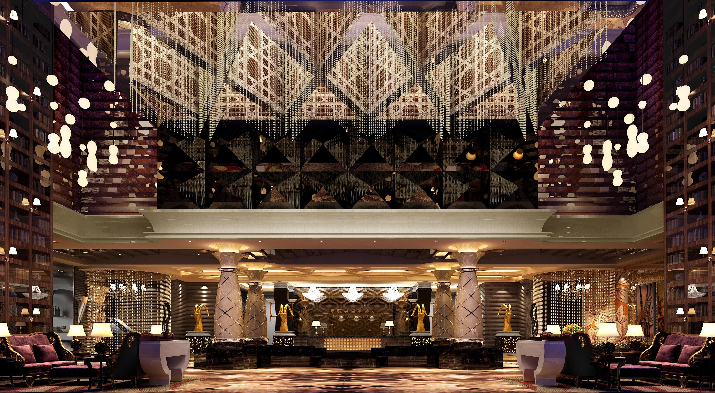 3d rendering luxury hotel lobby china luxury china hotel lobby -  Luxury Lobby 3d Model Max 2