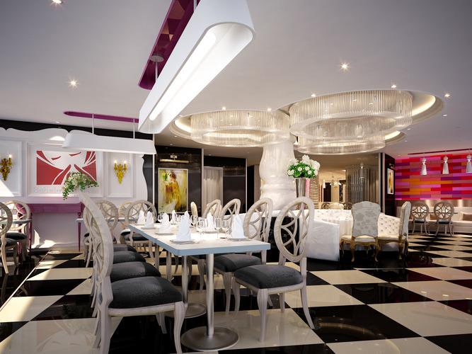 Restaurant bar 3d model cgtrader for Restaurant 3d max