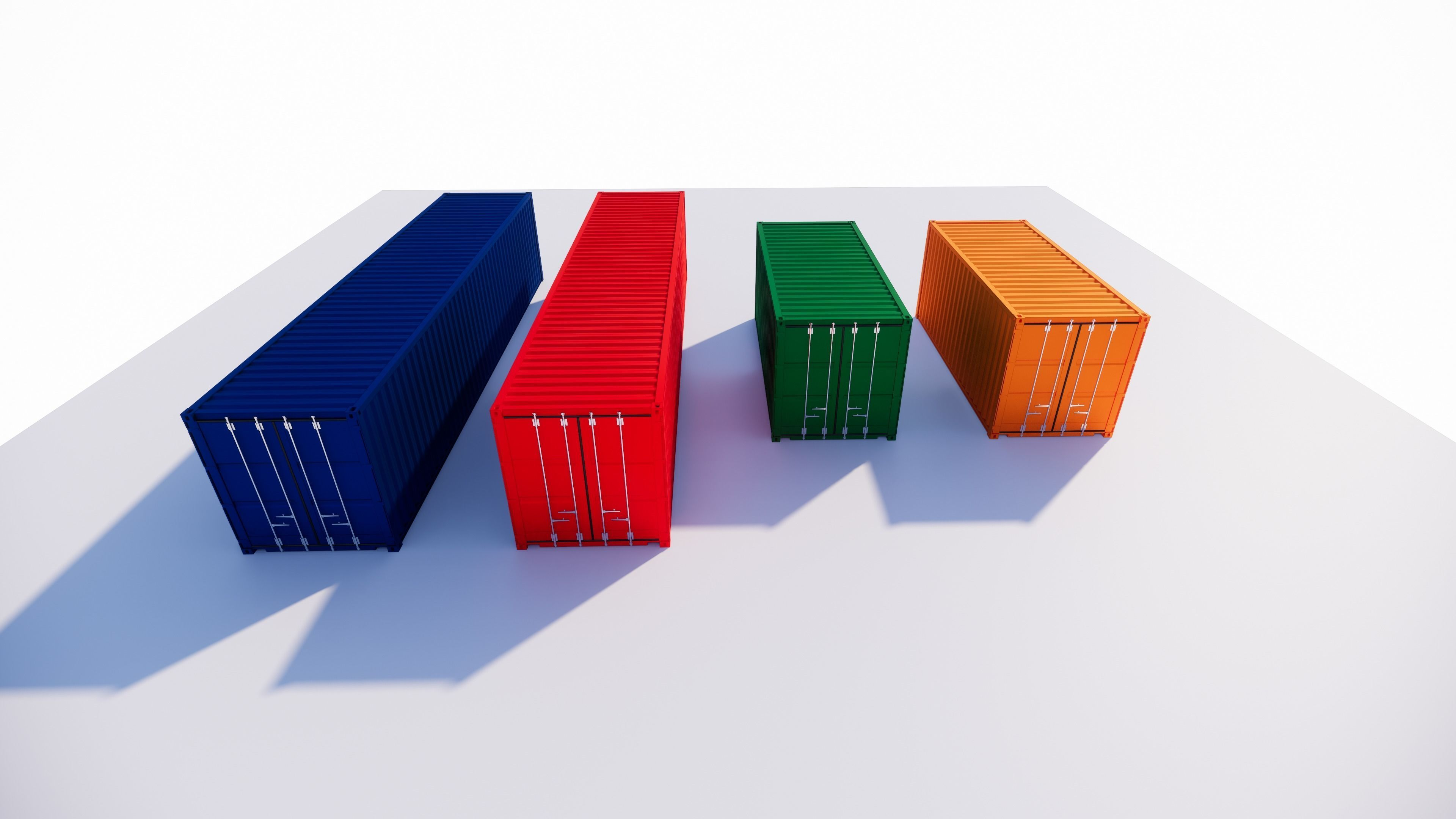 40 and 20 feet Container Model Parametrized
