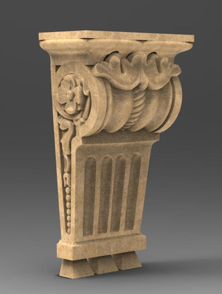 Corbel Decorative 2   3D model