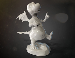 cartoon dragon for 3d print