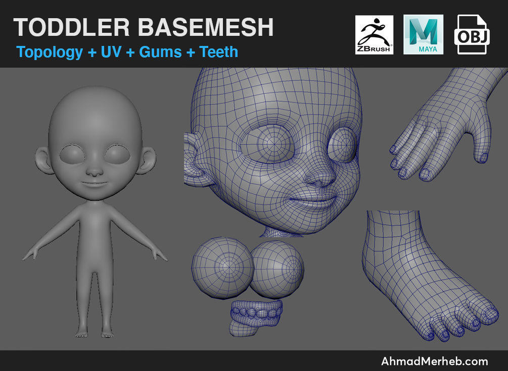 Toddler Kid Base Mesh