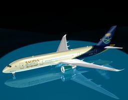 Saudia 787-8 dreamliner 3D model