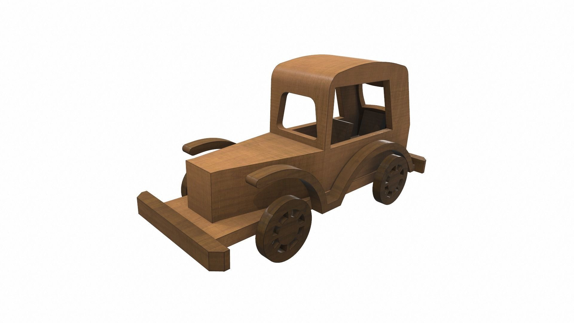 Wooden car toy retro 5