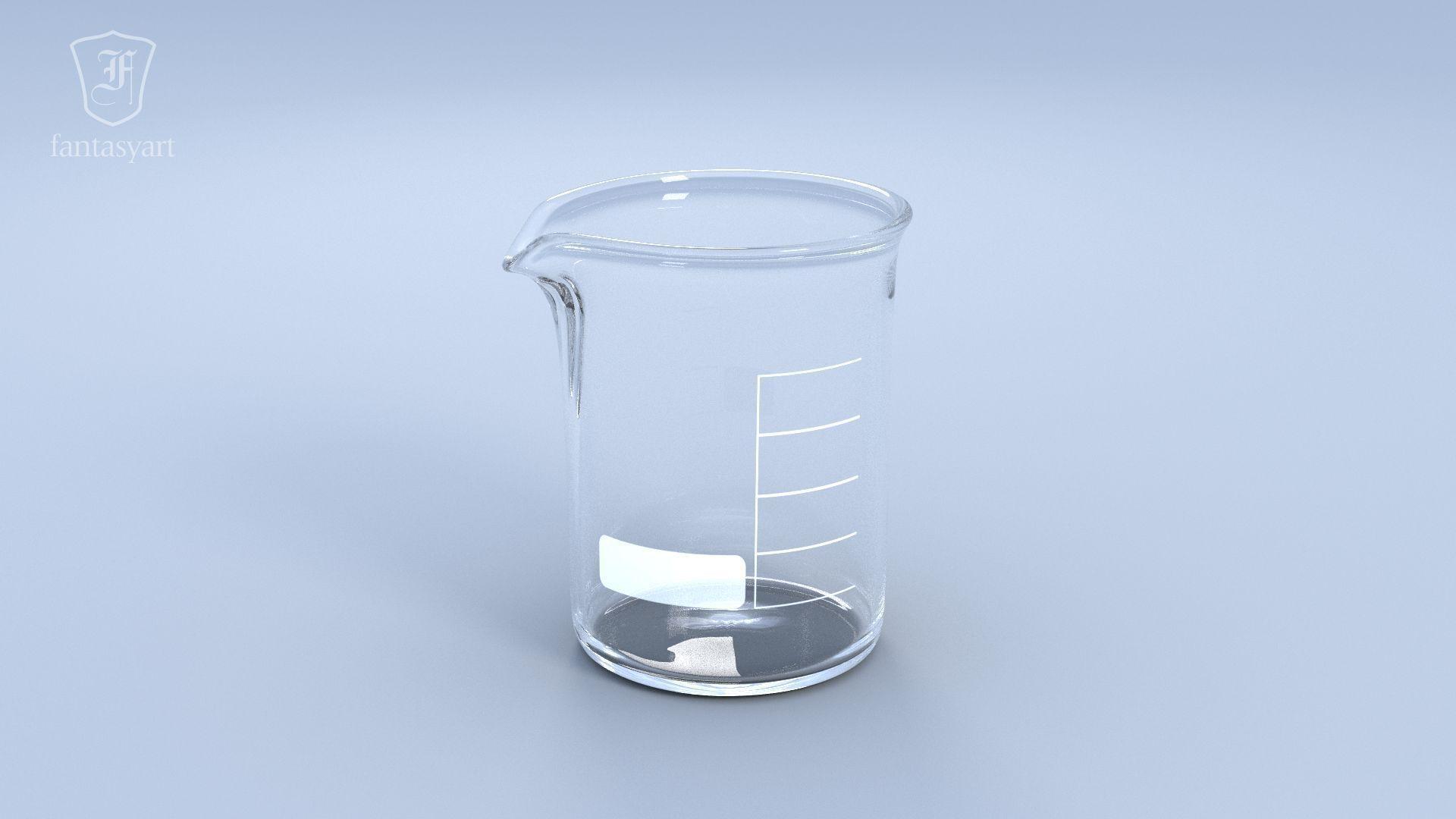 Chemical Laboratory Glassware Set 3d Model Obj Fbx