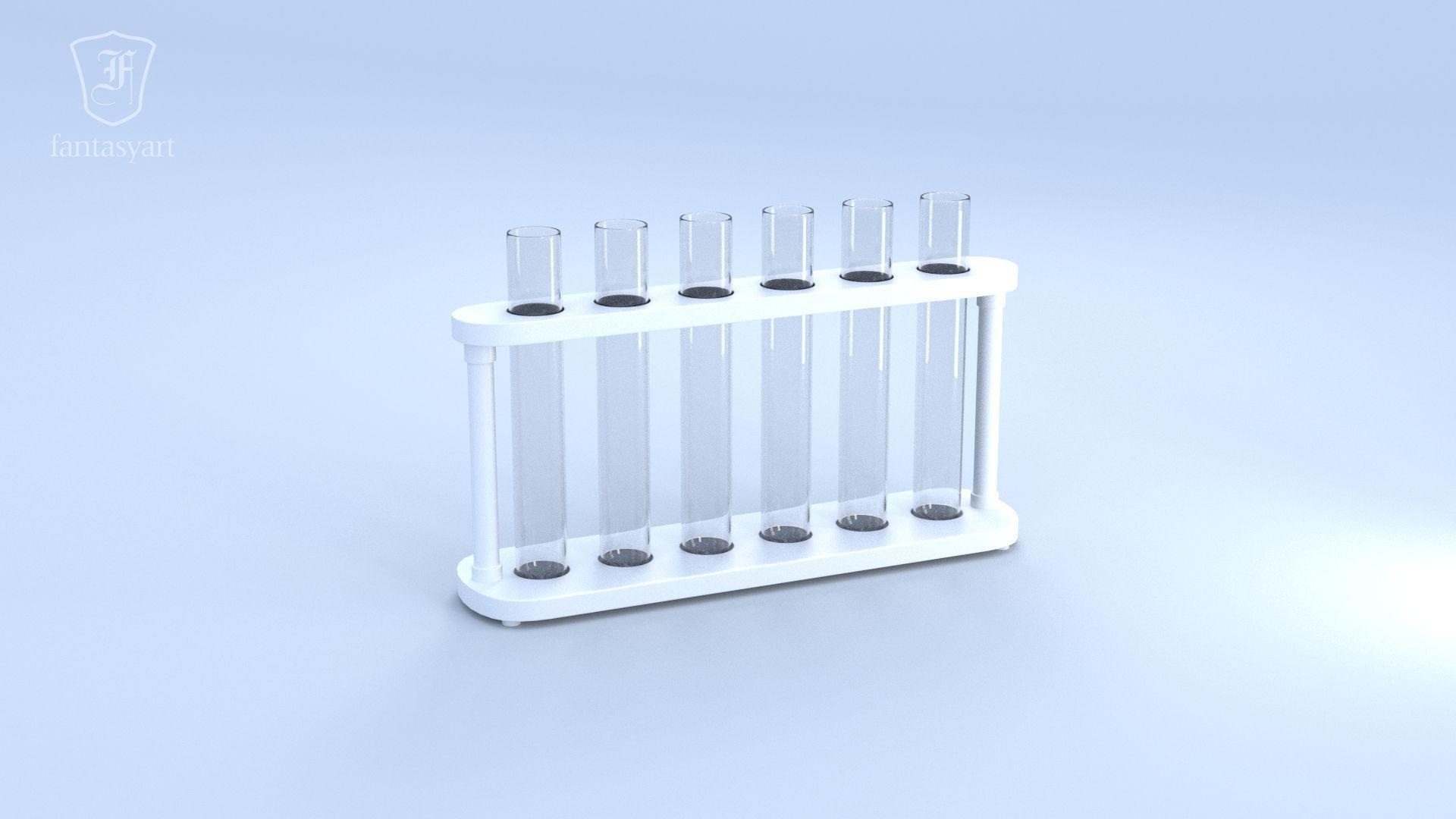Chemical Laboratory Glassware Set 3D Model OBJ FBX ...