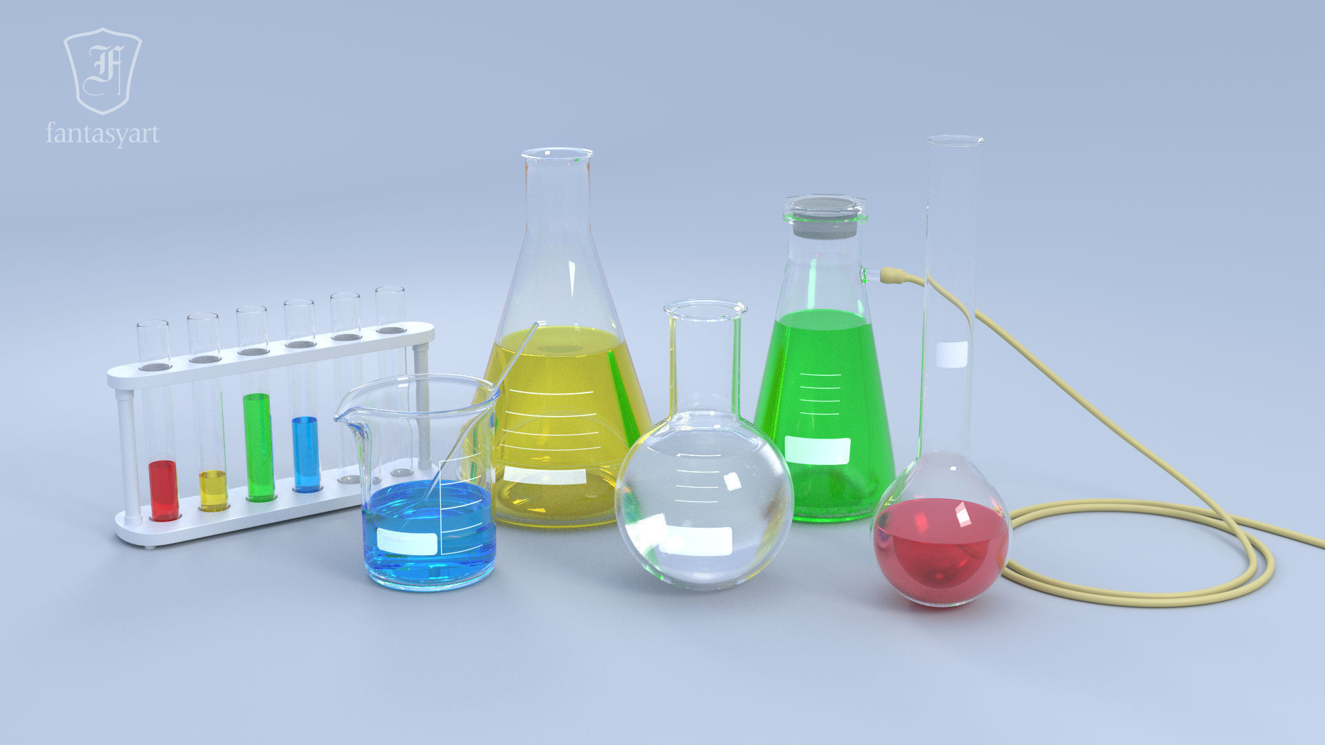 Chemical Laboratory Glassware Set
