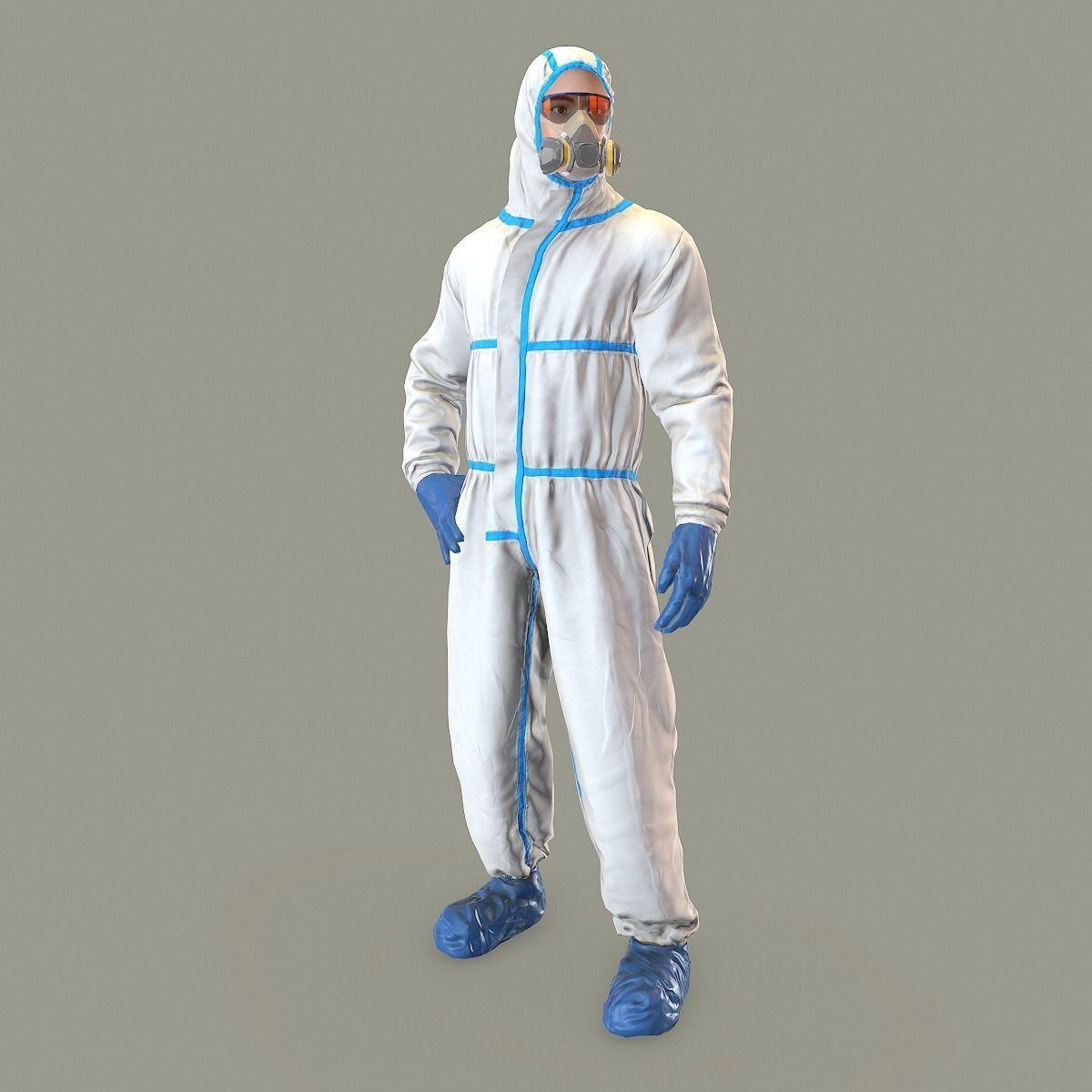 Hazmat suit rigged