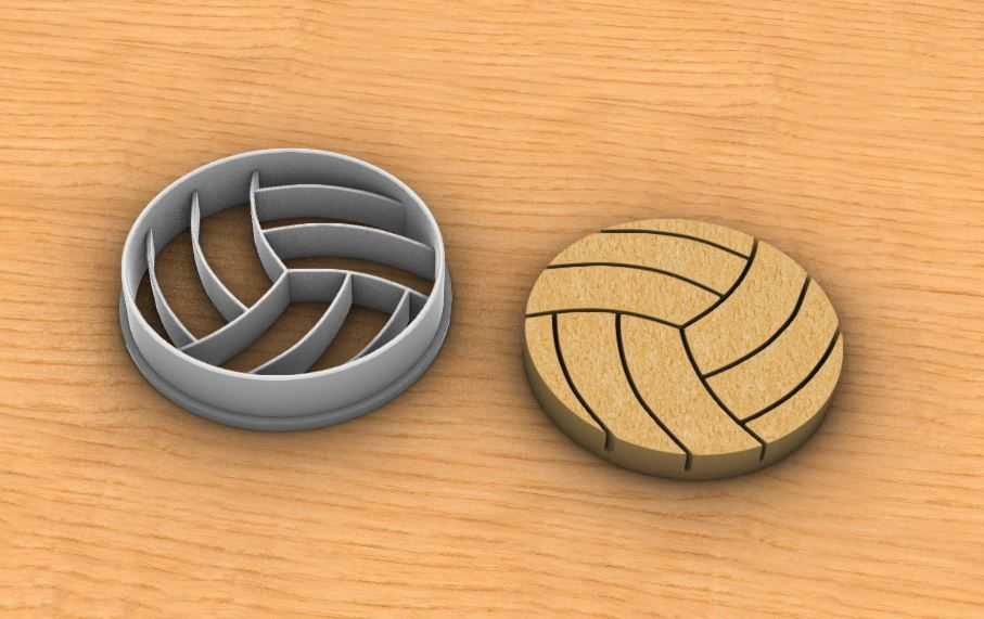 Volleyball cookie cutter