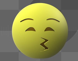 Emoji 3D print model smiley