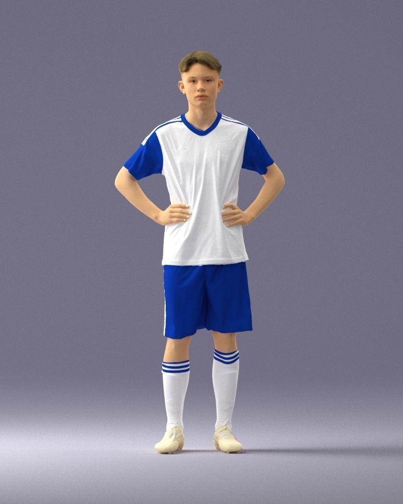 Soccer player 1114-9 3D Print Ready