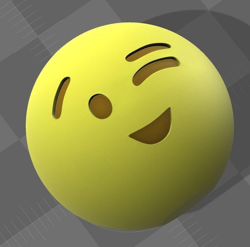 Emoji 12 3D Model 3D Printable
