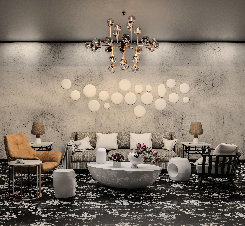 Revit Livingroom 3D Model Low-poly