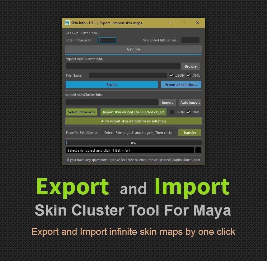 Export - Import SkinCluster