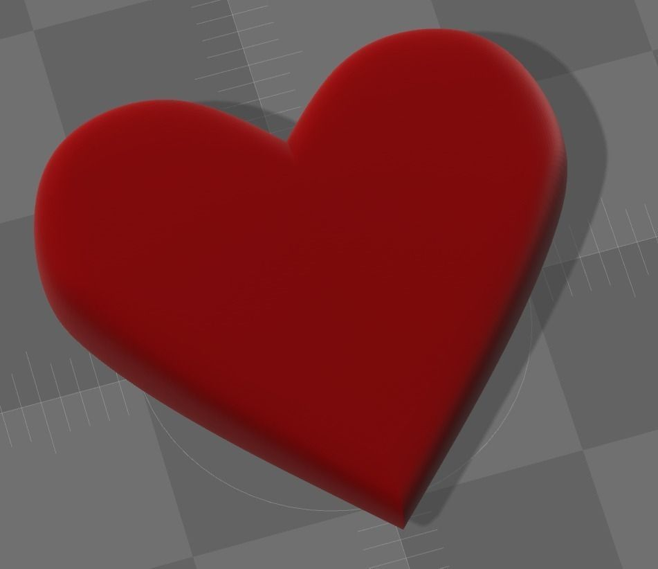 Emoji Heart 3D Model 3D Printable