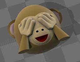 Emoji Monkey 01 3D print model