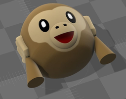 Emoji Monkey 03 3D print model