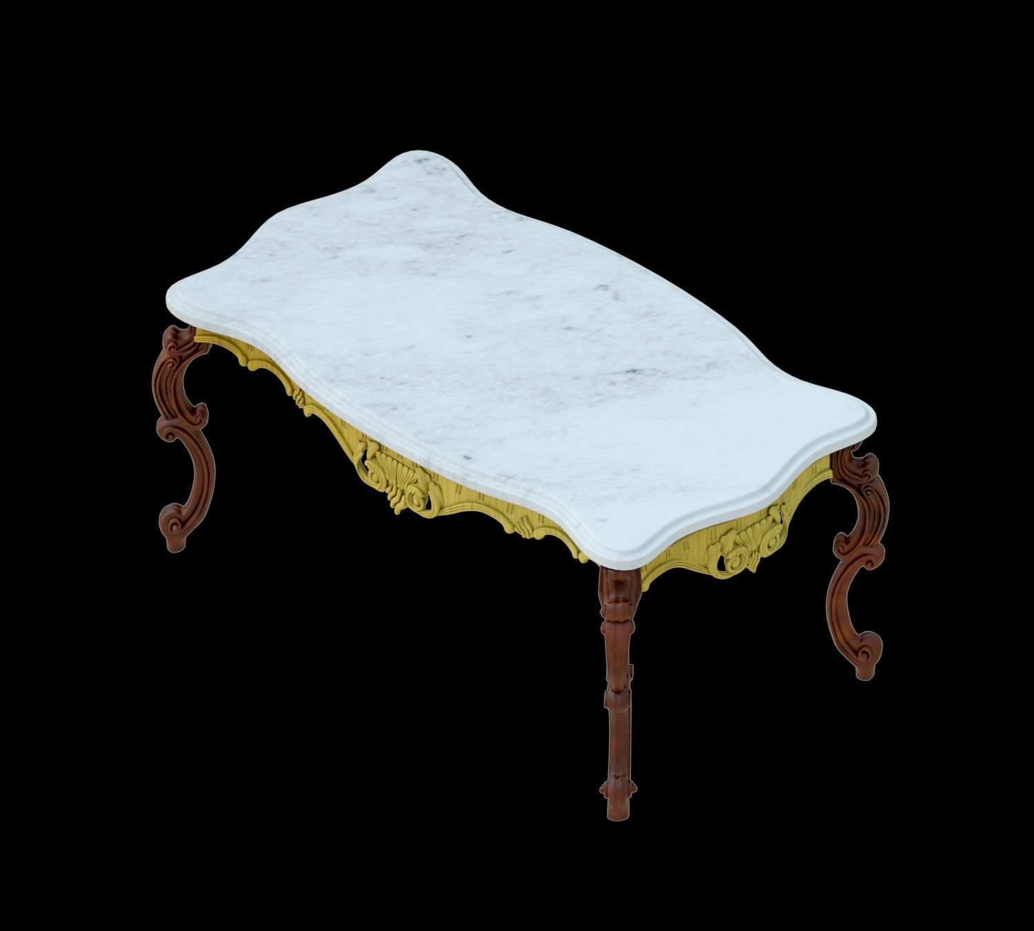 Revit Classic Table 3D model | CGTrader
