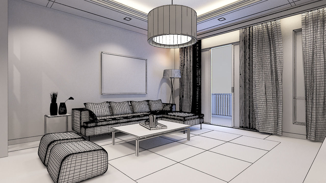 Living Room Condominium 3D model | CGTrader