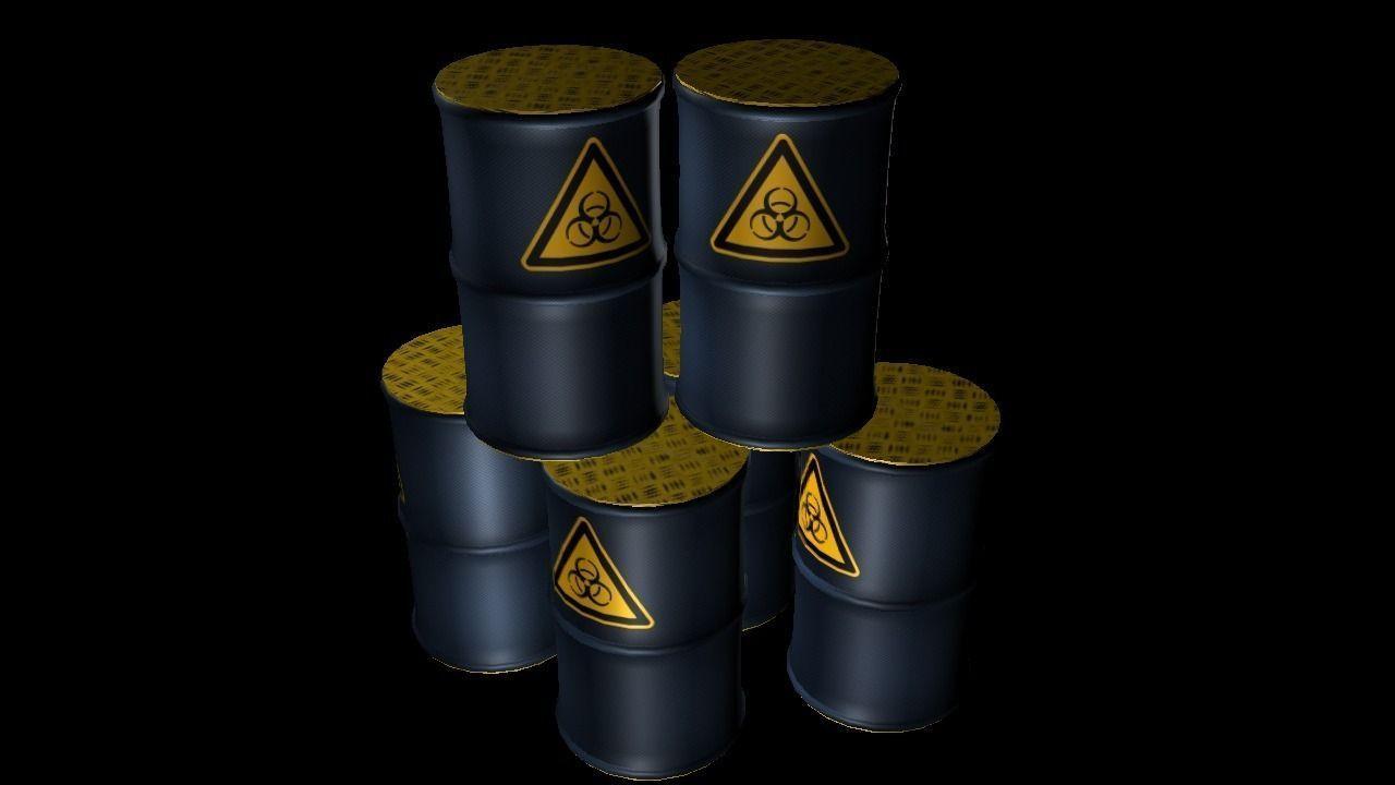 Biohazard Metal Barrel