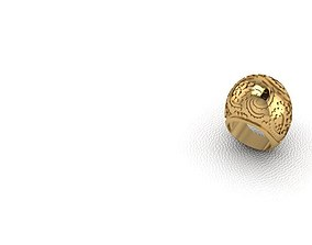 Ring 3D printable model silver