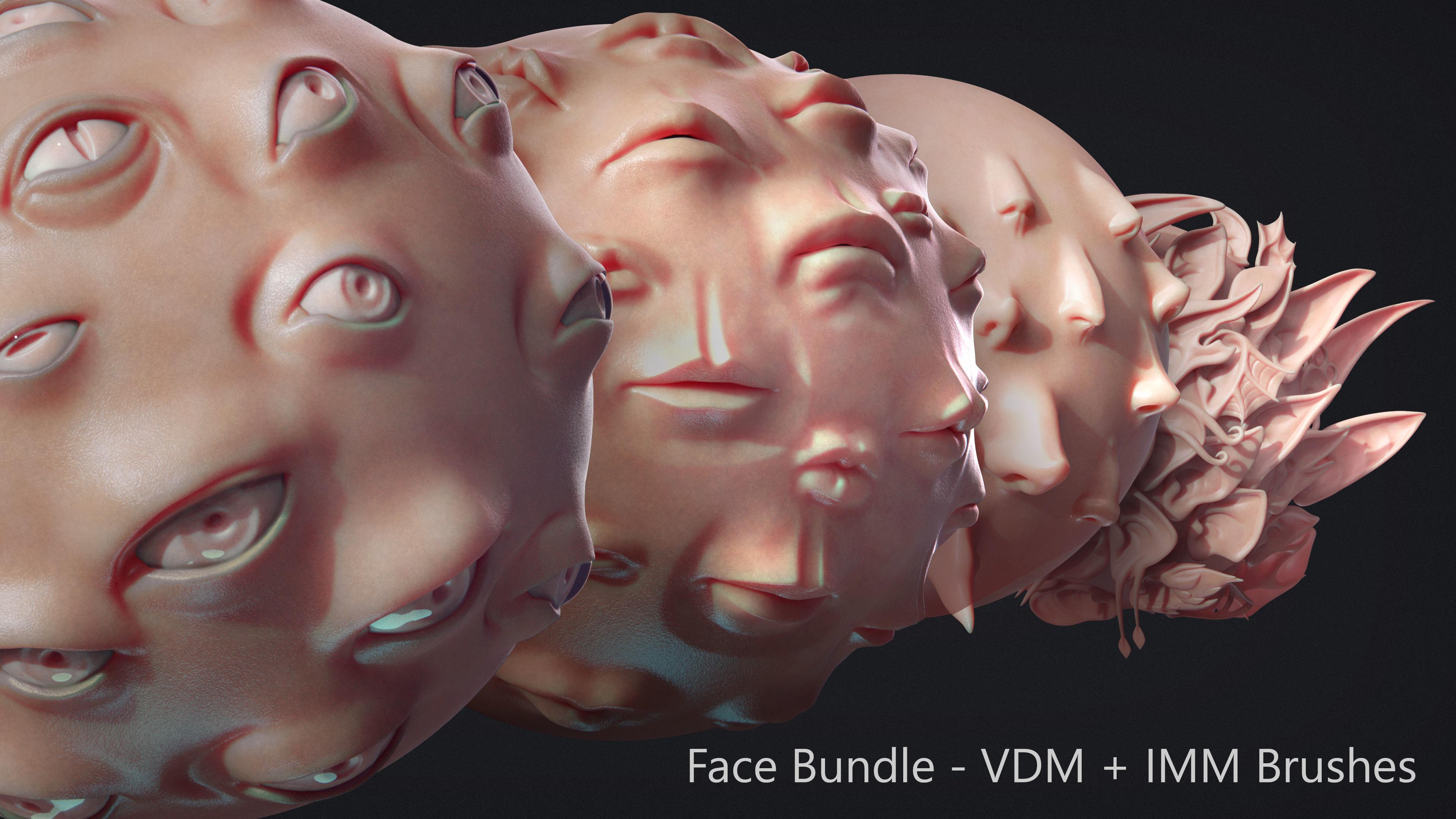 Zbrush - Face IMM and VDM Bundle