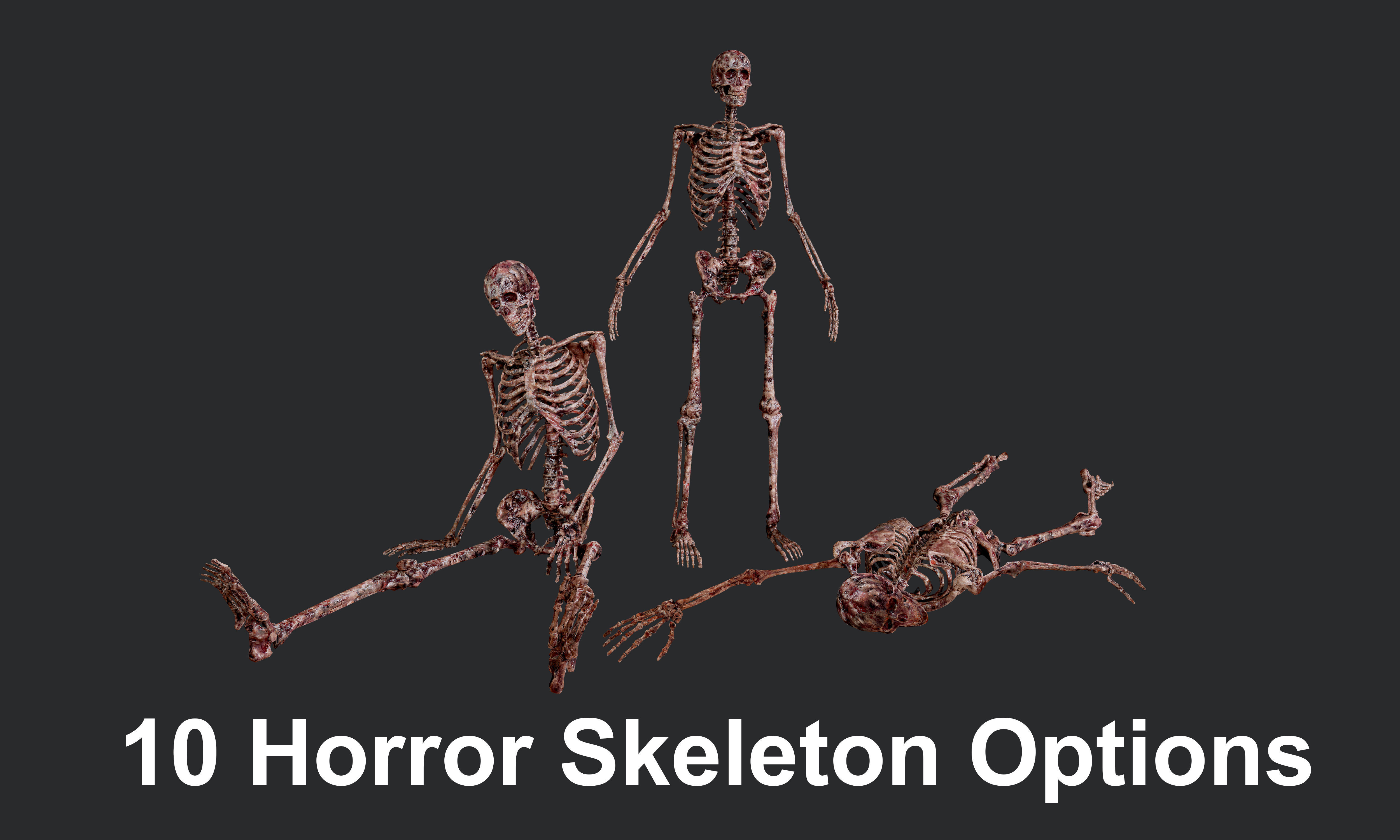 10 Bloody Horror Skeletons
