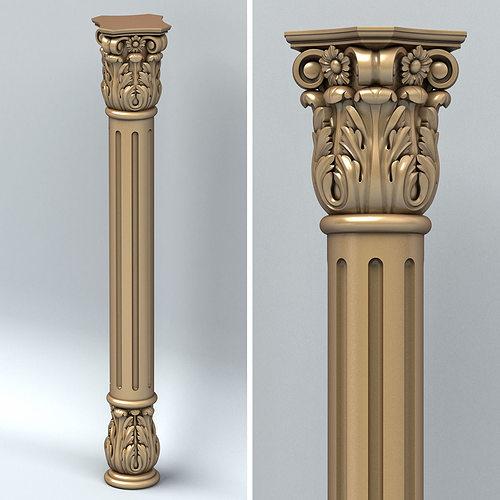 column 001 3d model max obj fbx stl 1