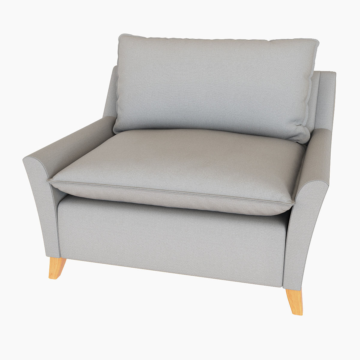 ... West Elm Bliss Down Filled Chair And A Half 3d Model Max ...