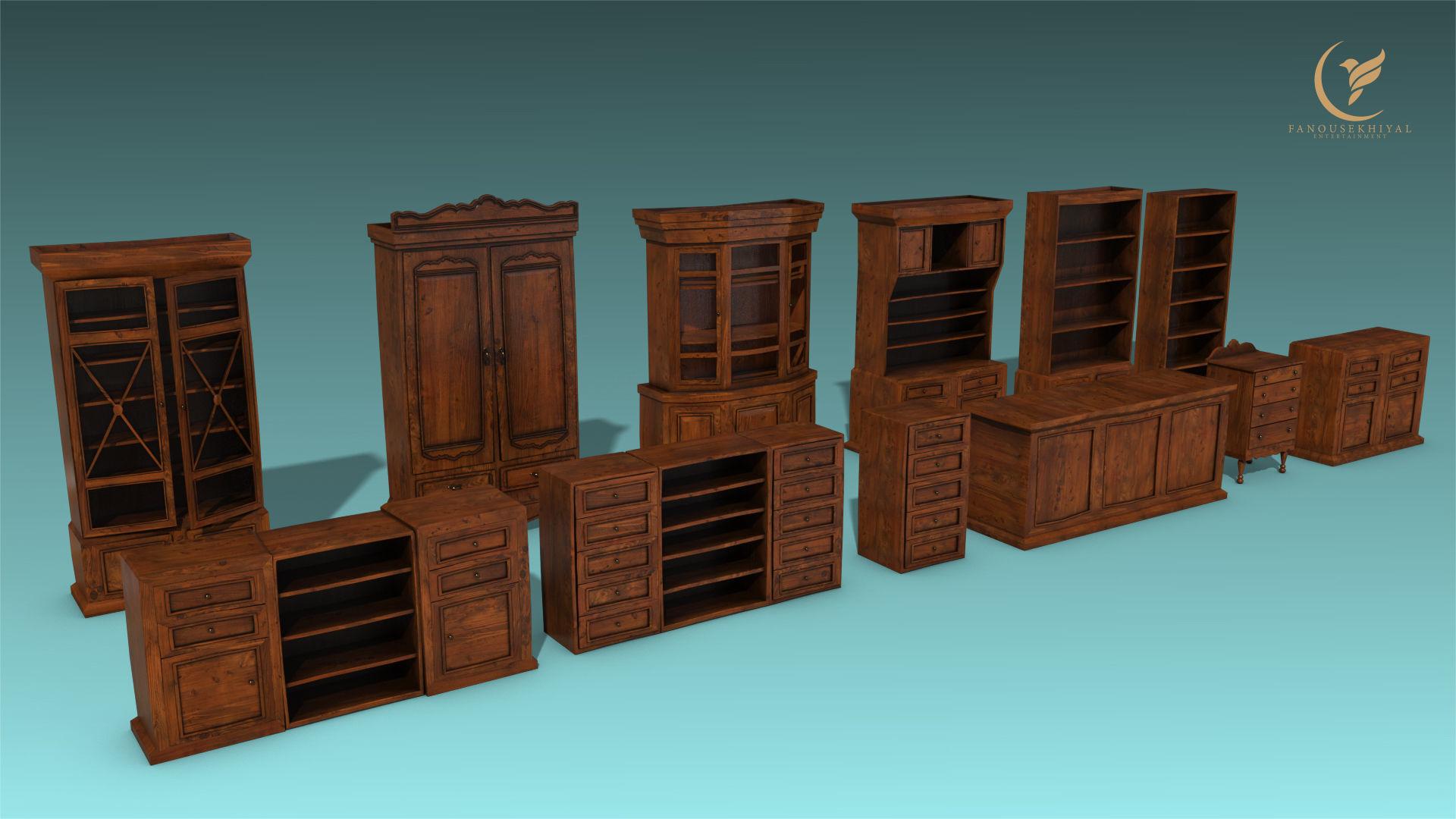 Antique Closet and drawer set