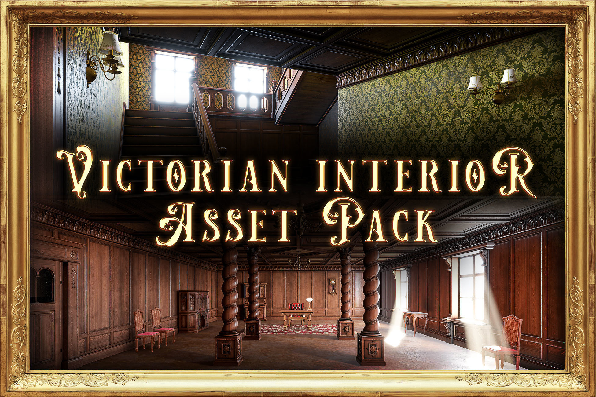 Modular Victorian Interior Mansion - Unity and Unreal Asset Pack