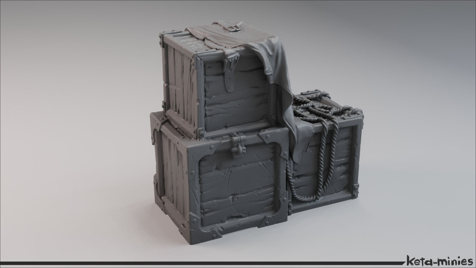 Medieval Tarped Crate A