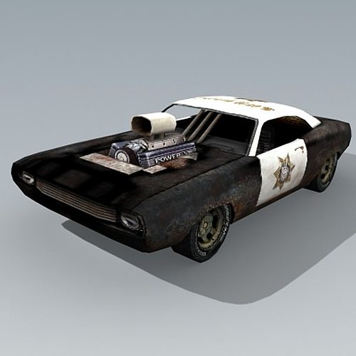 old policecar 3d model low-poly max 3ds 1