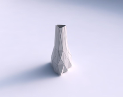 vase grounded triangle with triangle plates 3d printable model