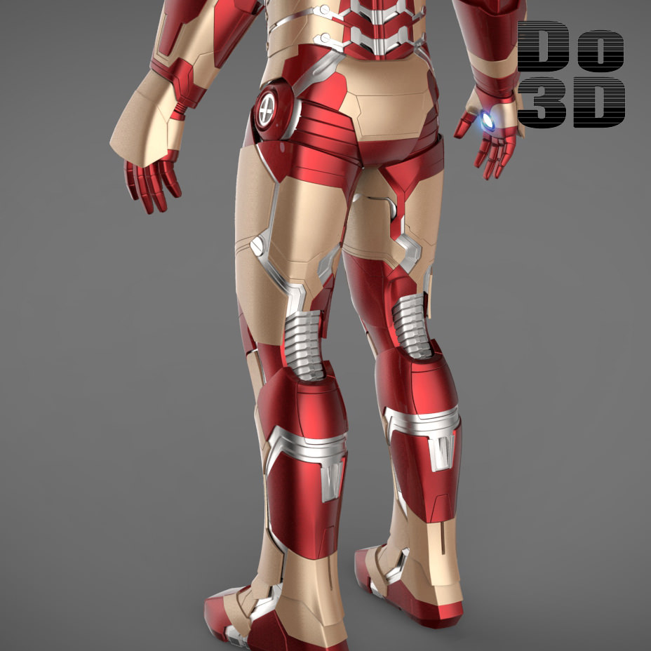 Iron Man 3 Suit - Mark 42 Armor 3D Model .max .obj .3ds ...