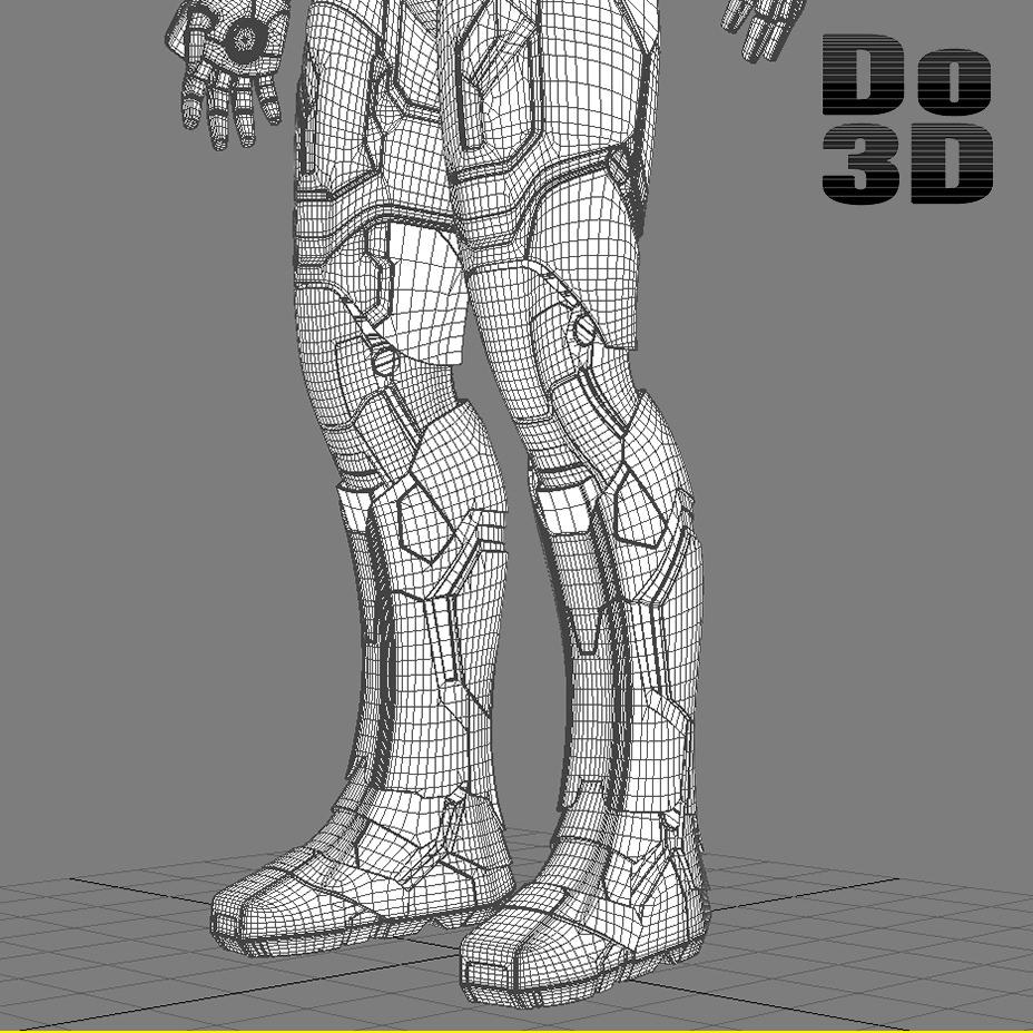 Iron Man 3 Suit - Mark 42 Armor 3D Model .max .obj .3ds ...