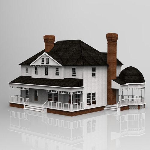 victorian house 3d model - Home 3d Model