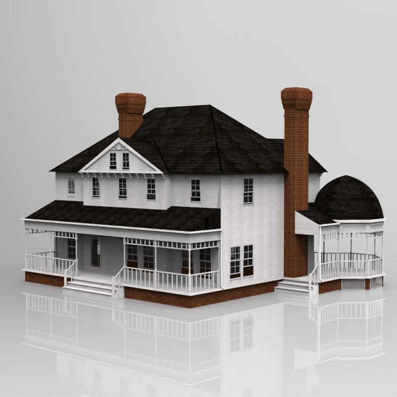 Beautiful Victorian House 3d Model Max Obj Mtl Fbx Pdf 1 ...