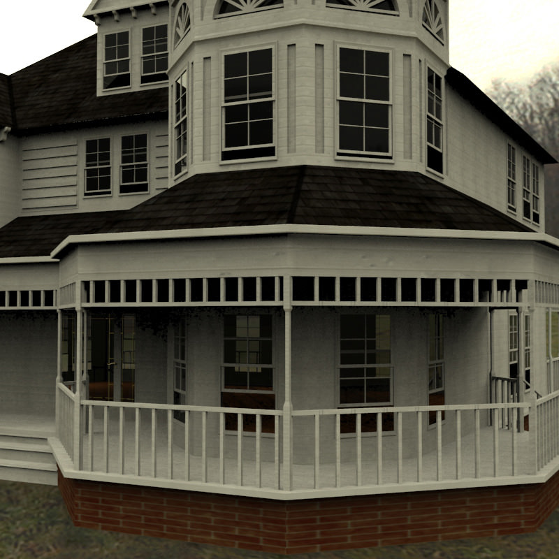 Victorian House 3d Model Max Obj