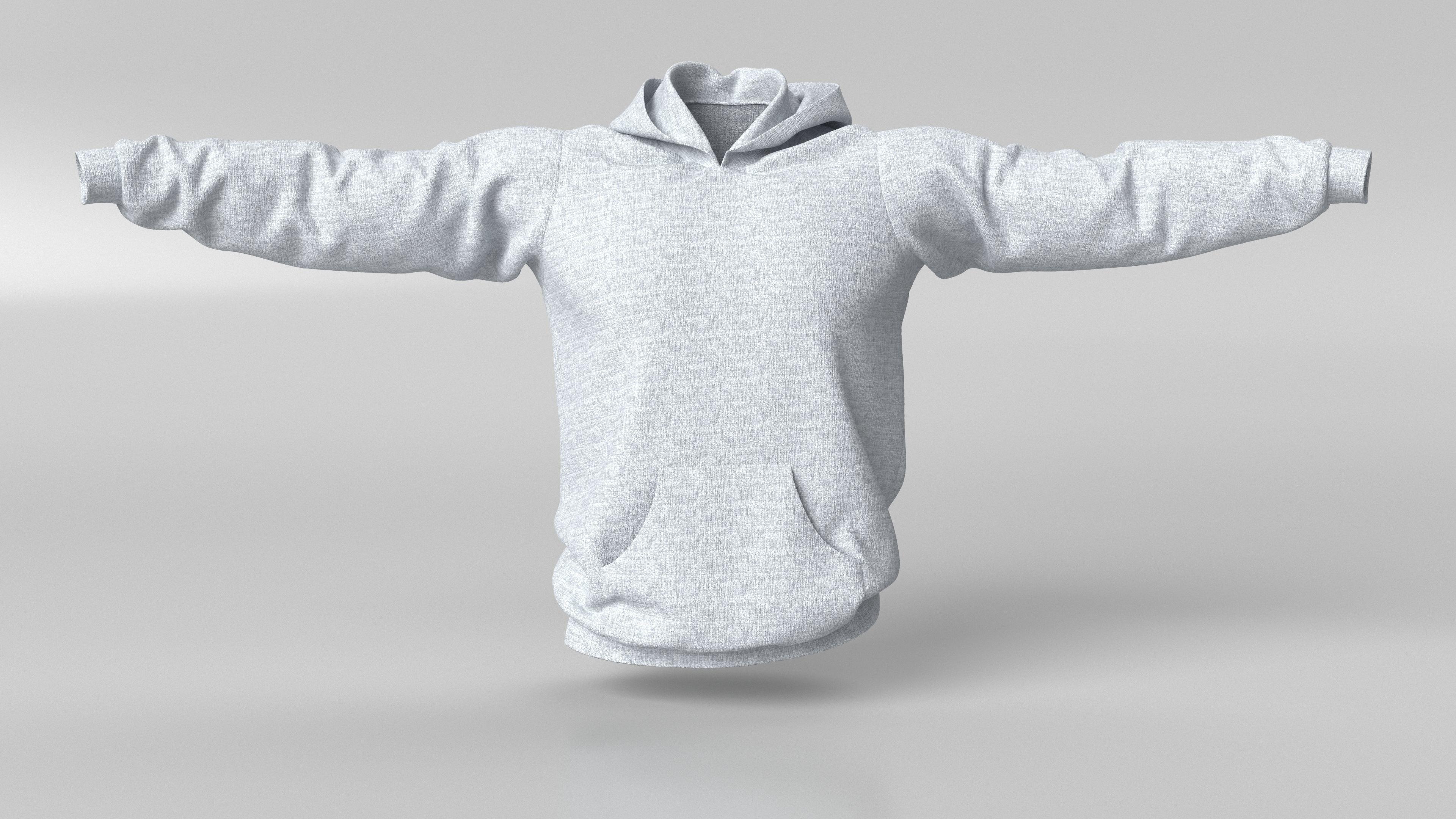 3D Model Male Hoodie