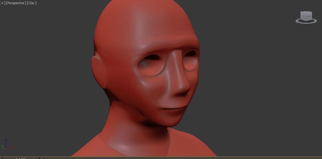 abstract head sculpt