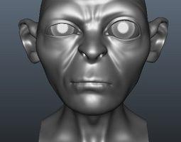 Gollum Blend Shapes 3D Model