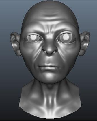 Gollum Blend Shapes3D model