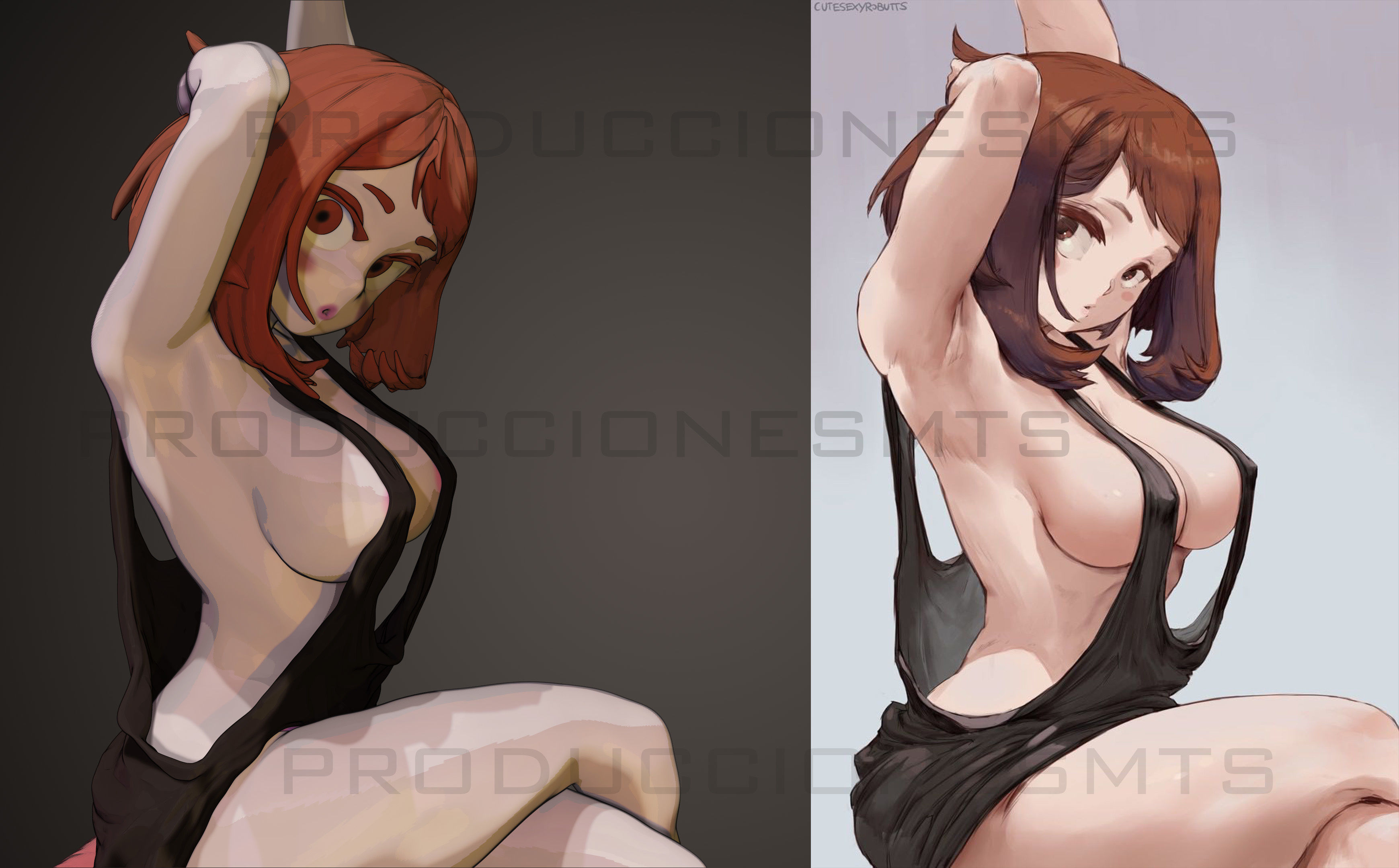 sexy uraraka boku no hero - one version body